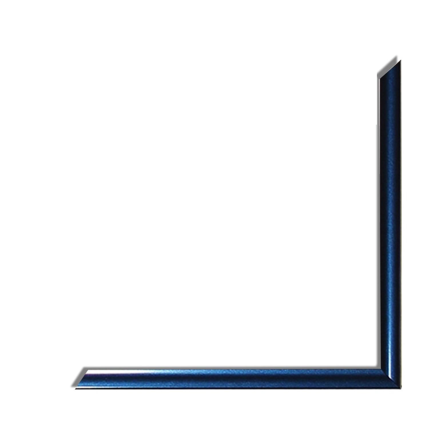 Posterrahmen Kunststoff Bilderrahmen Plastik Atlas Metallic Blau antireflex